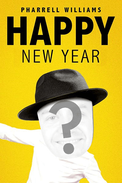 view happy by pharrell williams new years ecard